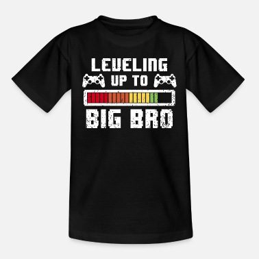Big Leveling up to big Brother - Gamer großer Bruder - Teenager T-shirt