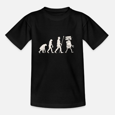 Technology Robot Evolution Cyborg Technique Funny Gift - Teenage T-Shirt