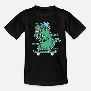 Primeval Times Dino Tyrannosaurus on the skateboard - Teenage T-Shirt