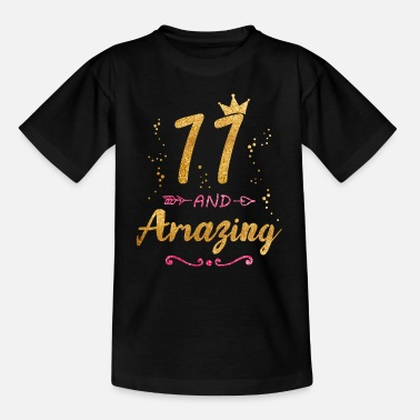 Girl 11th Birthday Gift for Girl 11 and Amazing Eleven - Teenage T-Shirt