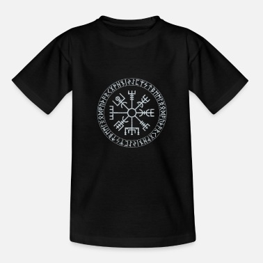 Norse Compass Vintage Viking Compass - Wotan Norse Mythology - Teenage T-Shirt
