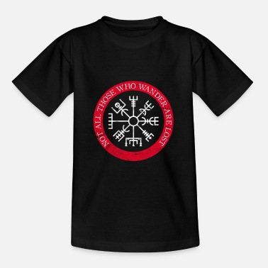 Norse Compass Vintage Viking Compass - Norse Mythology Vegvisir - Teenage T-Shirt