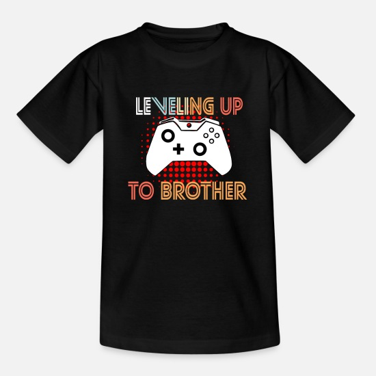 Big Brother T-shirts - Niveau op til Brother Brother Brothers søskende - T-shirt teenager sort