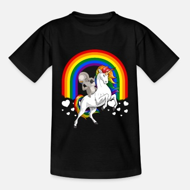 Equalizer LGBT Koala Bear Riding Unicorn Gay Pride Rainbow - Teenage T-Shirt