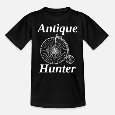 Collector Antique Collector Hunter Old School Retro Bicycle - Teenage T-Shirt