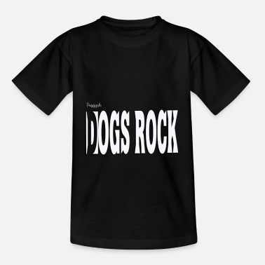 Puggysh-honden rocken wit - Teenager T-shirt