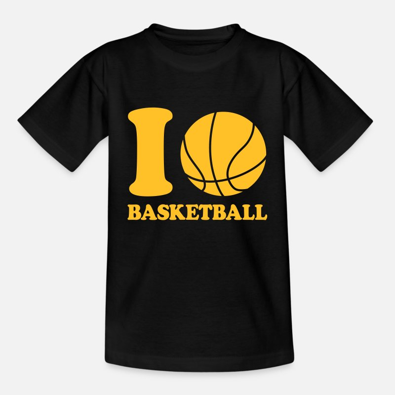 Panier T-shirts - I love Basketball - T-shirt Ado noir