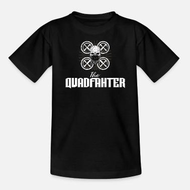Modèle Le Quadfather - drone, quadricoptère, vol - T-shirt Ado
