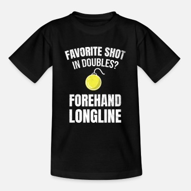 Longline Tennis doubles | Double player forehand longline - Teenage T-Shirt