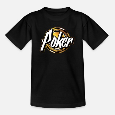 Or de jeton de poker - T-shirt Ado