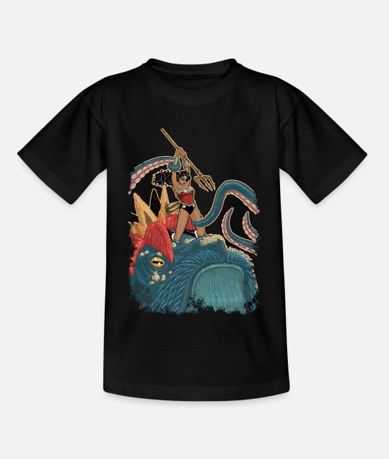 Superhero T-shirts - Wonder Woman Fight teenager T-shirt - Teenager T-shirt zwart