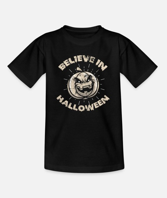 Friedhof T-Shirts - Halloween Kürbislaterne - Teenager T-Shirt Schwarz