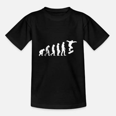 Longboard Skateboard Skaten Evolution - Teenager T-Shirt