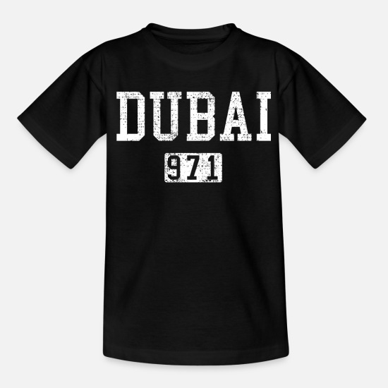 Oil T-Shirts - DUBAI VINTAGE - Teenage T-Shirt black