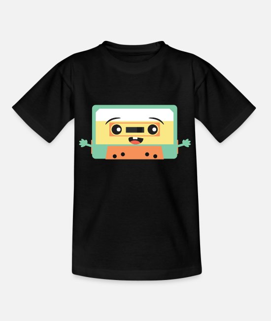 Kassette T-Shirts - Kawaii Kassette Audiokassette Mixtape - Teenager T-Shirt Schwarz