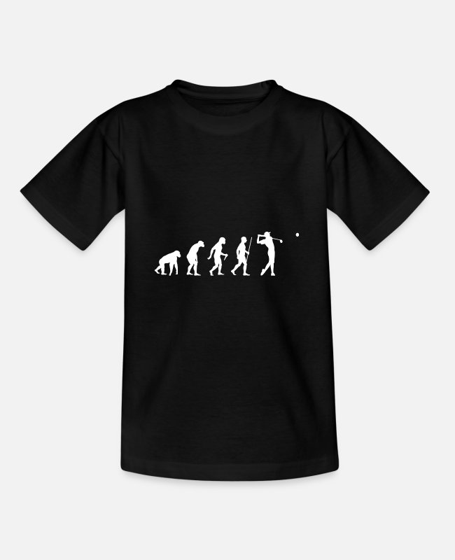 Golfspieler T-Shirts - 2562 Evolution Golf - Teenager T-Shirt Schwarz