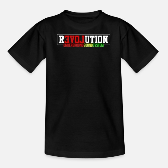 Dancehall T-Shirts - rEVOLution - Teenager T-Shirt Schwarz