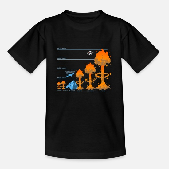 Idea T-Shirts - Nuke Bomb Missile Device Explosive Bombshell Gift - Teenage T-Shirt black