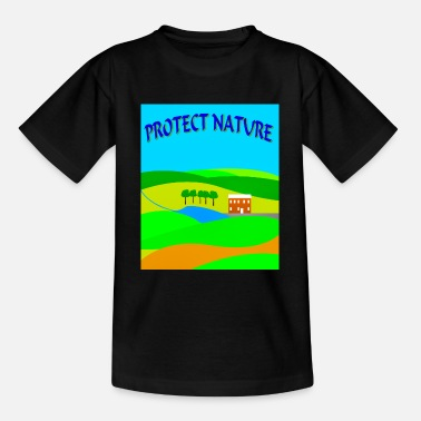 Protect Nature landscape - Teenage T-Shirt