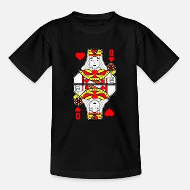 Playing Heart lady playing card - Teenage T-Shirt