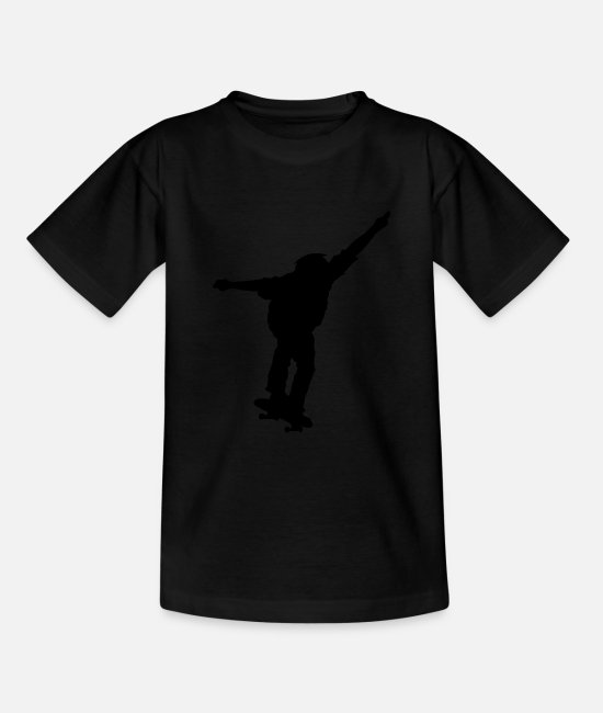 Ollie T-Shirts - Skateboard stunt half pipe skater gift - Teenage T-Shirt black