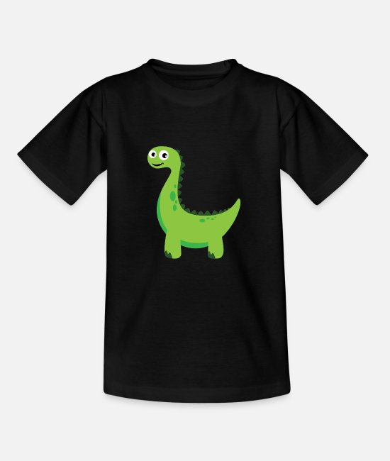 Drache T-Shirts - Dino - Teenager T-Shirt Schwarz