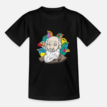 Charles Darwin Portrait Gift Evolution - Teenager T-shirt
