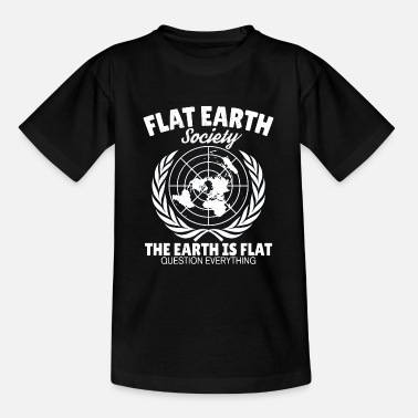 Flat Flat Earth Astrology Flat Earth Earth Gift - Teenage T-Shirt