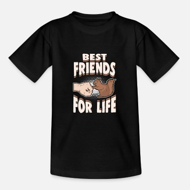 Squirrel Animals Nuts Best Friends for Life - Teenage T-Shirt