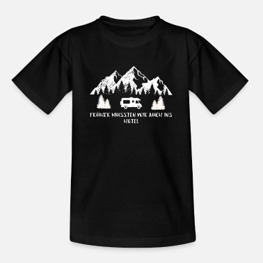 Camping tents caravan camper road trip idea - Teenage T-Shirt