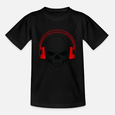 Hardrock skull Dj music headphones Hardrock Techno House - Teenager T-shirt