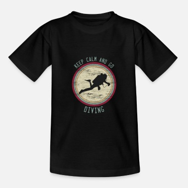 Combat Diver Keep Calm saying diving retro gift divers - Teenage T-Shirt