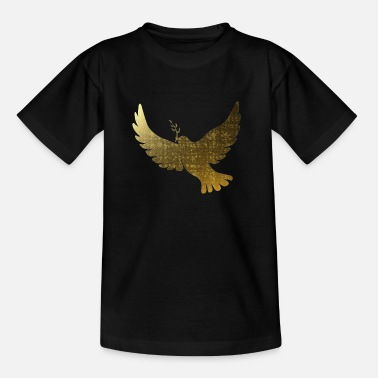 Golden peace doves - Teenage T-Shirt