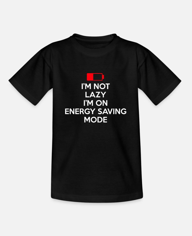 Relax T-Shirts - ENERGY SAVING MODE w - Teenage T-Shirt black