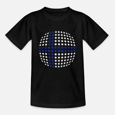 Finland flag (Dotted) - Teenage T-Shirt