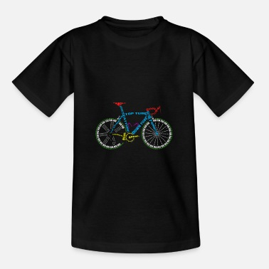 Cycling Bicycle anatomy for bike and cycling lovers - Teenage T-Shirt