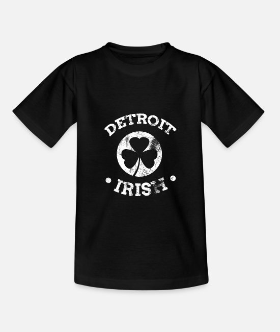 Detroit Irish Apparel T-shirts - Chemise irlandaise de Detroit | Détroit St Patricks Day - T-shirt Ado noir