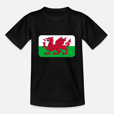 WALES FLAG round corner 400 dpi - Teenager T-Shirt