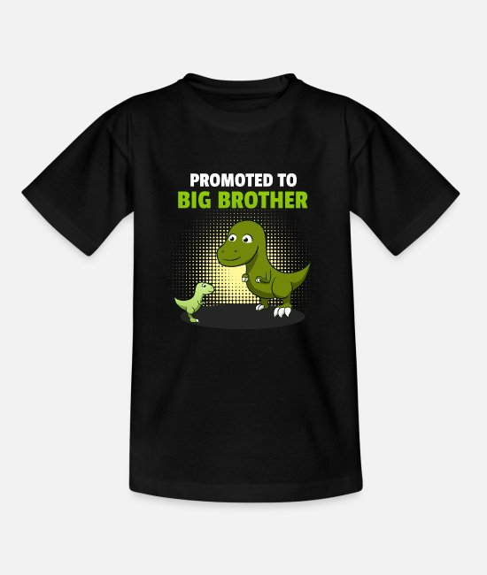 Brotherasurus T-Shirts - Siblings brother Brothersaurus I gift - Teenage T-Shirt black