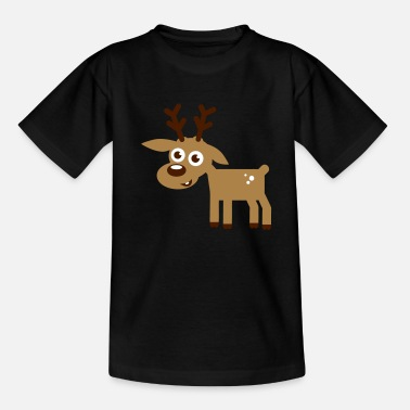 Deer Reindeer Christmas Comic - Teenage T-Shirt