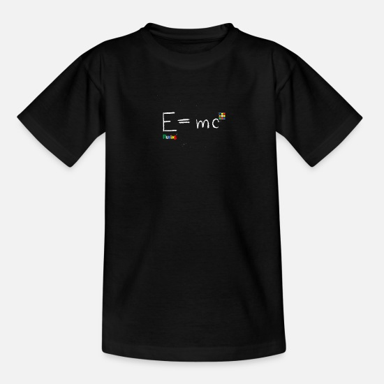 Cube T-shirts - Rubik's E = mc - Teenager T-shirt zwart