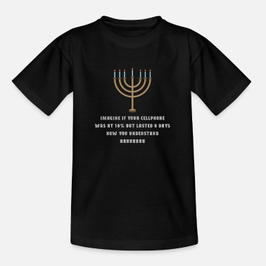 Sarkastisches lustiges T-Stück Chanukka Chanukah Mobiltelefon - Teenager T-Shirt
