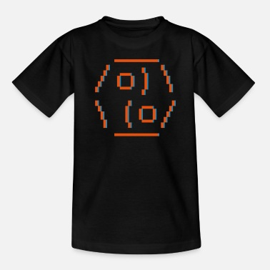 Internet ASCII-art: yin yang - Teenage T-Shirt