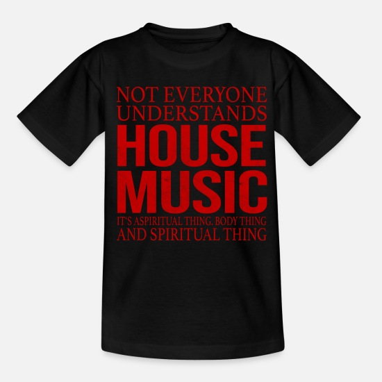 Mikrofon T-Shirts - House Music - Teenager T-Shirt Schwarz
