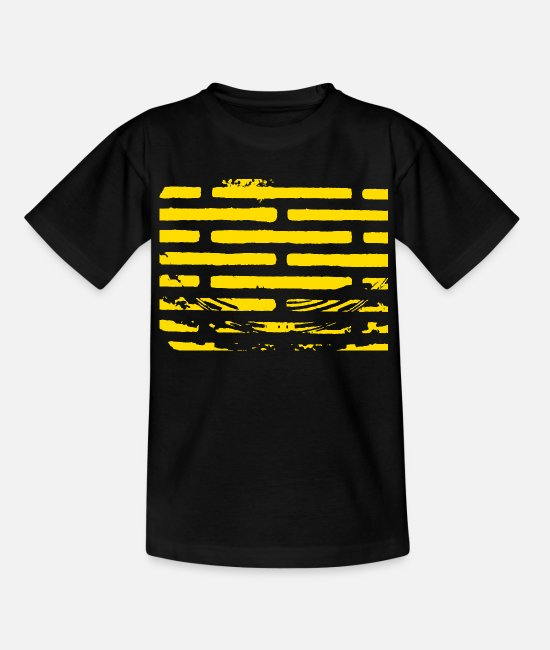 Wall T-Shirts - Grill grate / grill VINTAGE - texture design - Teenage T-Shirt black