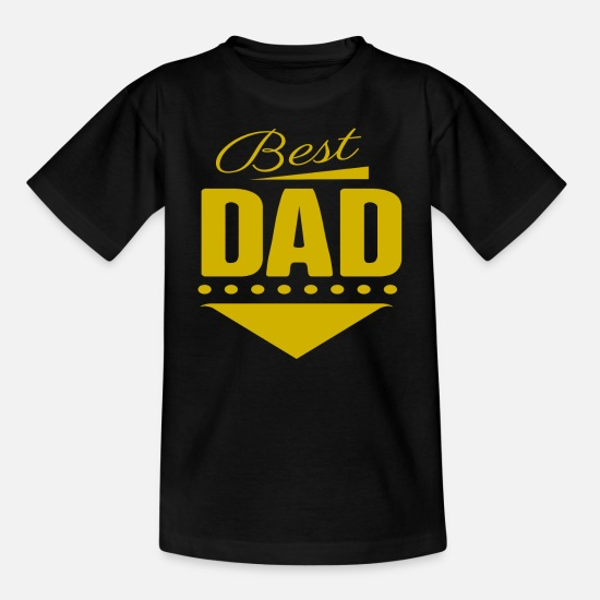 Dag T-shirts - Bedste far Fars dag - T-shirt teenager sort