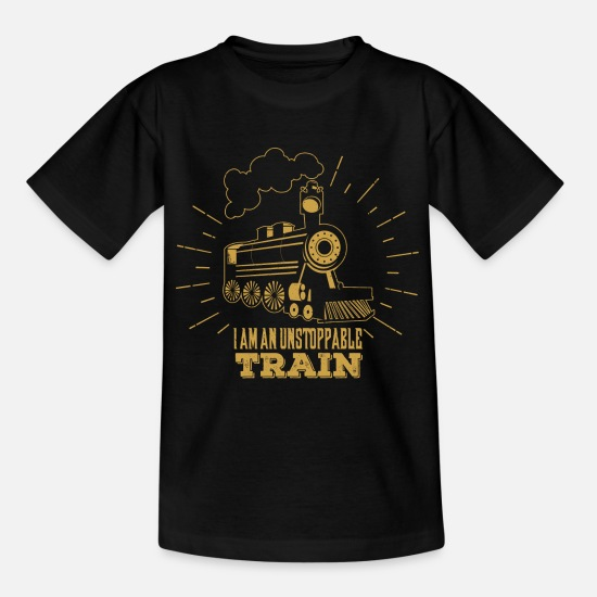 Trains T-Shirts - Trains - Teenage T-Shirt black
