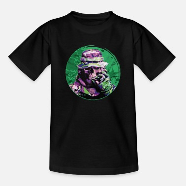 Soldier Of Fortune Grinning Undead Soldier - Teenage T-Shirt