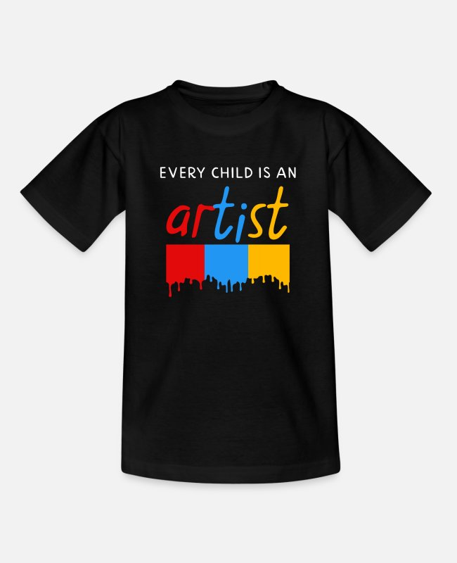 ADHD T-shirts - Every child is an artist - Teenager T-shirt zwart