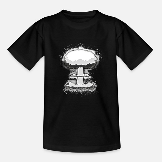 Cloud T-Shirts - Explosion nuclear brightly glowing - Teenage T-Shirt black